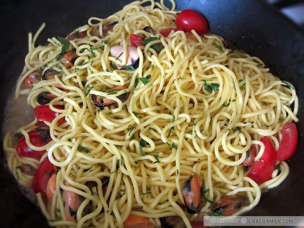 Spaghetti freschi alle cozze