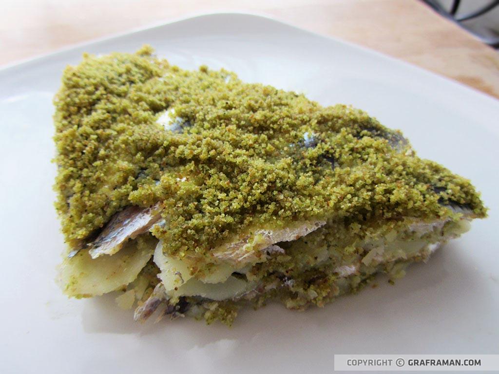 Tortiera di sardine con patate