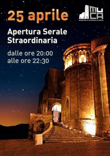 Locandina per la stampa dell'apertura straordinaria della Cattedrale di Anagni