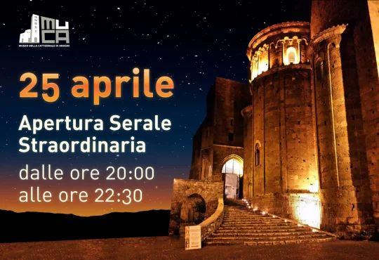 Locandina per il web dell'apertura straordinaria della Cattedrale di Anagni