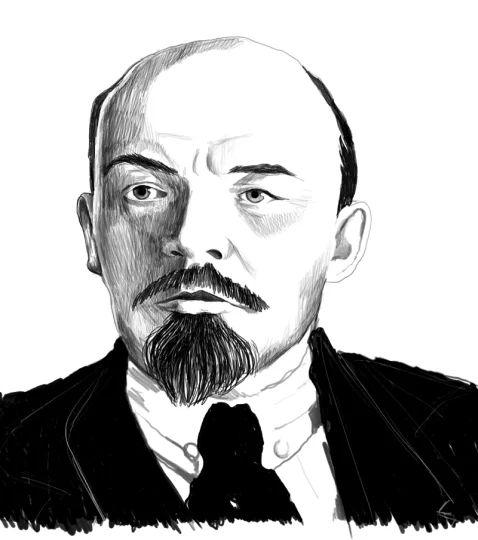 Ritratto di Lenin reallizato per la copertina del libro Rivoluzioni permanenti