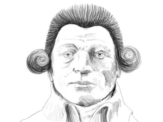 Ritratto di Maximilien de Robespierre reallizato per la copertina del libro Rivoluzioni permanenti