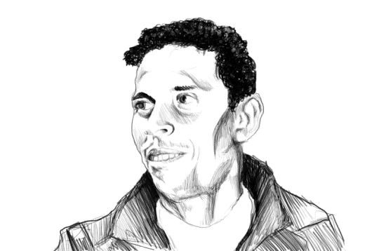 Ritratto di Mohamed Bouazizi reallizato per la copertina del libro Rivoluzioni permanenti