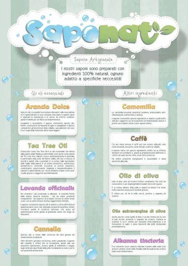 Poster informativo sugli ingredienti utilizzati