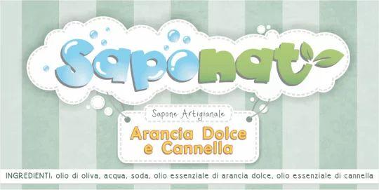 Etichetta adesiva sapone all'arancia dolce e cannella