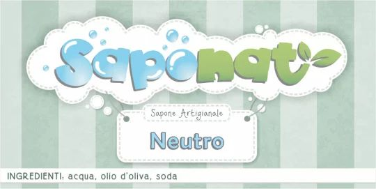 Etichetta adesiva sapone neutro