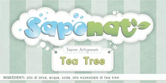 Etichetta adesiva sapone al tea tree oil