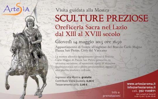 Locandina web visita guidata alla mostra Sculture Preziose