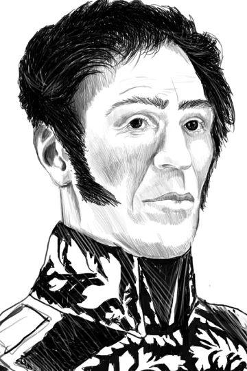 Ritratto di Simon Bolivar reallizato per la copertina del libro Rivoluzioni permanenti