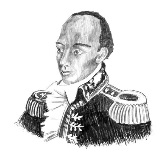Ritratto di Toussaint L'Ouverture reallizato per la copertina del libro Rivoluzioni permanenti