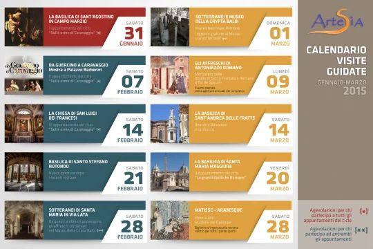 Locandina web Calendario visite guidate