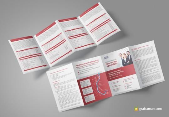 Mockup della brochure
