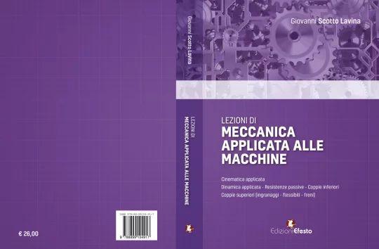 """Copertina del libro """"Lezioni di Meccanica applicata alle macchine"""""""