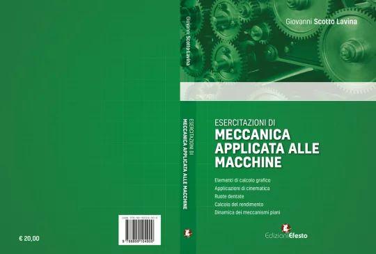 """Copertina del libro """"Esercitazioni di Meccanica applicata alle macchine"""""""