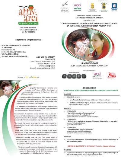 Brochure evento della I Edizione del progetto Confrontarci
