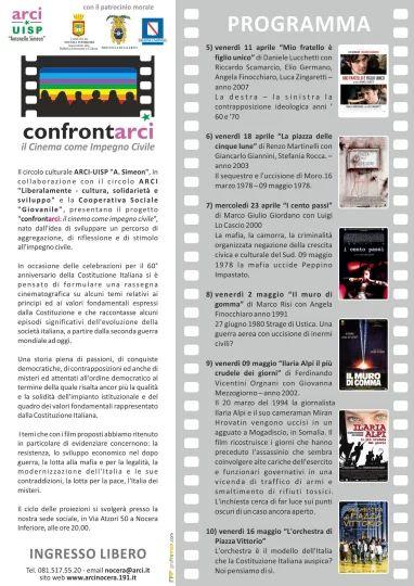 Locandina I Edizione del progetto Confrontarci