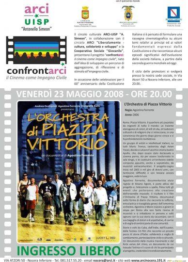 Locandina proiezione film Orchestra di Piazza Vittorio