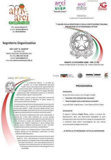 Brochure evento della II Edizione del progetto Confrontarci