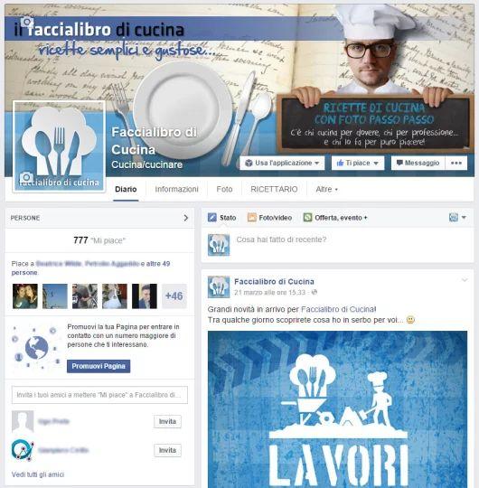La cover della pagina Facebook