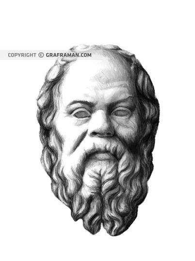 Illustrazione per la copertina del libro L'incarico. La dottrina segreta di Socrate