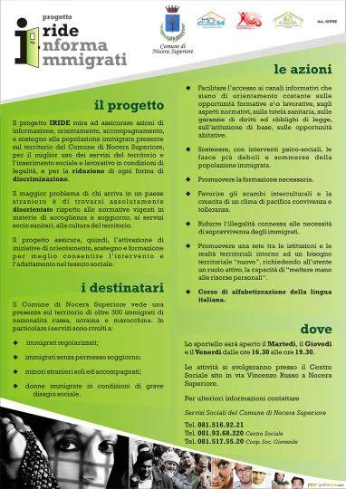 Locandina informativa progetto Iride