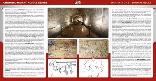 Pannello bilingue sull'Oratorio di S. Becket