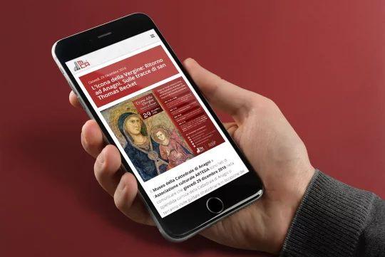 La pagina di un evento su dispositivi mobili