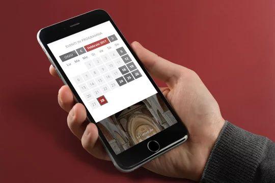 Particolare della homepage su dispositivi mobili